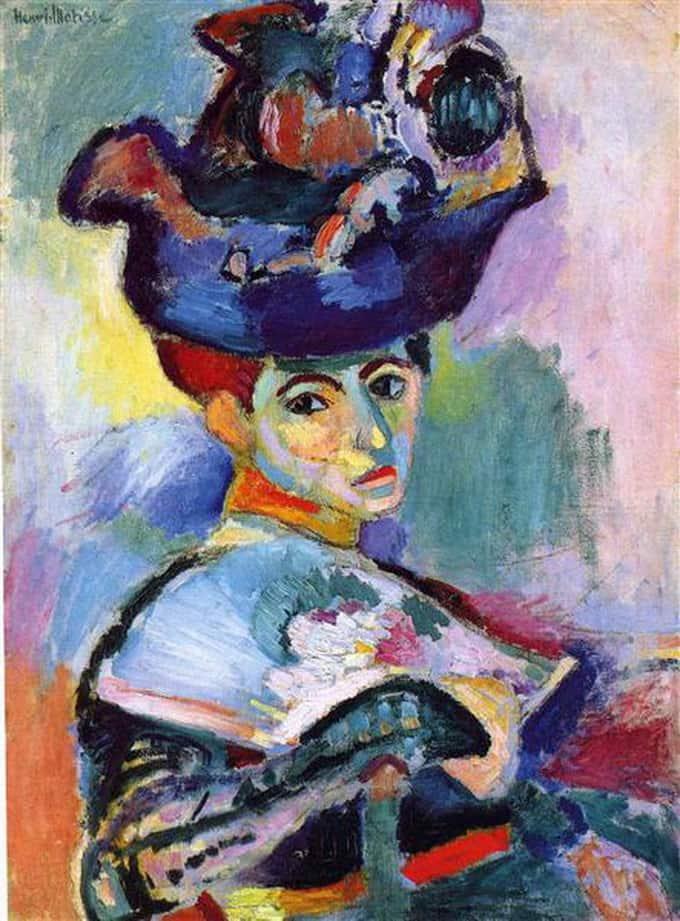 """Femme a Chapeau"" 1905, Henri Matisse (Imagem: WikiArt)"
