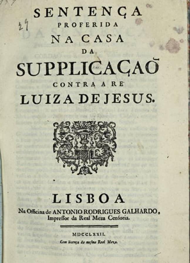 Luiza de Jesus - A Assassina da Roda Artes & contextos A Sentenca